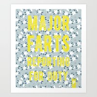 Major Farts Art Print