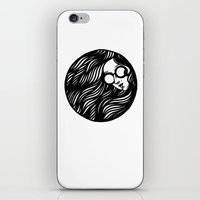 Circle Lady 3 iPhone & iPod Skin