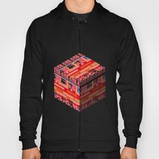 3D pixel city Hoody