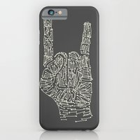 iPhone & iPod Case featuring Horns Hand by Resistenza