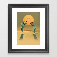 1 on 1 Poster Print Framed Art Print