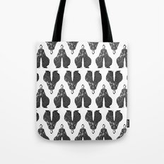 Bowie pattern bw Tote Bag