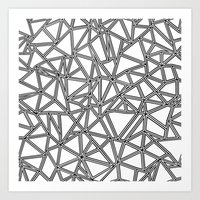 Abstract New Black on White Art Print