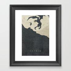 Dawning Fire - Skyrim Po… Framed Art Print