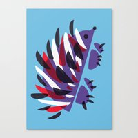 Colorful Abstract Hedgehog Canvas Print