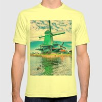 old and beautiful  Mens Fitted Tee Lemon SMALL