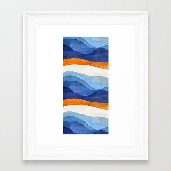 Mountains in the Morning Framed Art Print