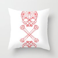 RedSkull Throw Pillow
