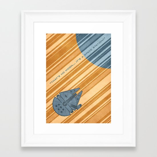 Millenium Falcon Framed Art Print