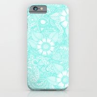 iPhone & iPod Case featuring Henna Design - Aqua by haleyivers