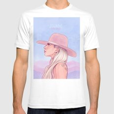 Joanne Mens Fitted Tee White SMALL