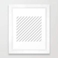 Diagonal Lines (Silver/White) Framed Art Print