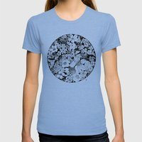 Summer Strawberries Womens Fitted Tee Tri-Blue SMALL