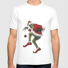 Christmas Grinch Mens Fitted Tee White SMALL