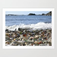Glass Beach, California Art Print