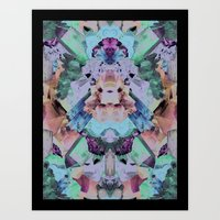 Crystal Collage Art Print