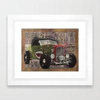 '32 Ford Roadster Warhawk Edition Framed Art Print