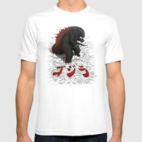 The Great Daikaiju Mens Fitted Tee White SMALL