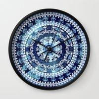 Marina Blue Mandala Wall Clock