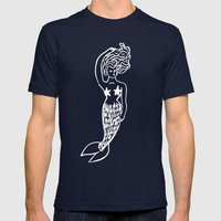 Sirens Mens Fitted Tee Navy SMALL