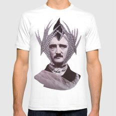EDGAR ALLAN POE White Mens Fitted Tee SMALL