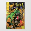 Space Chick & Nympho: Vampire Warrior Party Girl Comix #1- Tyrano the Dinosaur-God  in Comic Page  Canvas Print