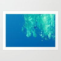 Waves Under The Water  Art Print
