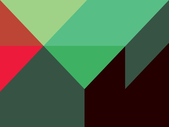 Green & Red Triangles Art Print