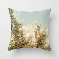 Orchard Blue Throw Pillow