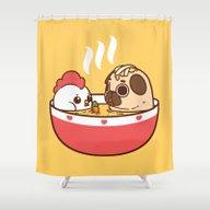 Chicken Noodle Puglie So… Shower Curtain