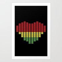 Digital Heart Meter Art Print
