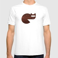 Minanimals: Fox Mens Fitted Tee White SMALL