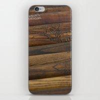 Wooden Baseball Bats iPhone & iPod Skin
