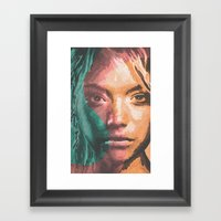 The S Girl Framed Art Print