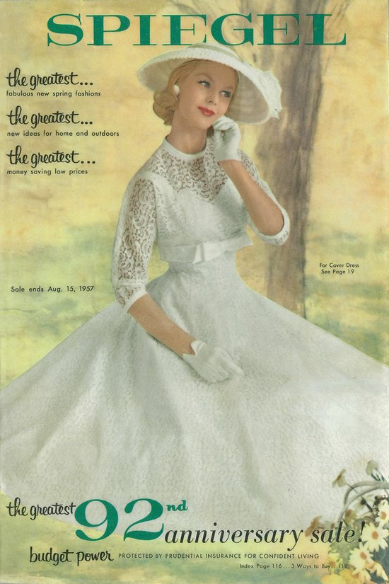 1957 Spring/Summer Catalog Cover Canvas Print