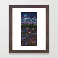 A Town On The Edge Of Ad… Framed Art Print