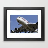 Qatar Airlines Airbus A380 Framed Art Print