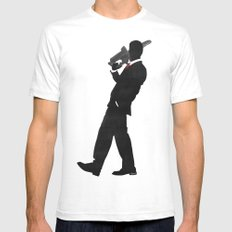 American Psycho Minimalist Poster Mens Fitted Tee White SMALL
