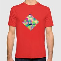 Pixeland Mens Fitted Tee Red SMALL