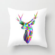 3D Stag Throw Pillow