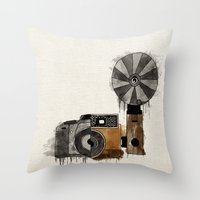 Camera Evolution Throw Pillow