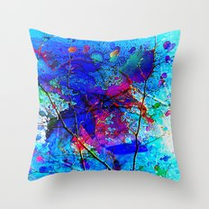 Abstract fantasy Painting Throw Pillow