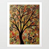 Abstract Tree-12  Art Print