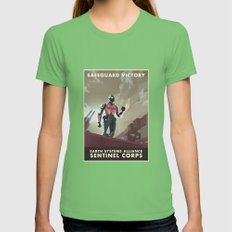 Mass Effect 3- Sentinel … Womens Fitted Tee Grass SMALL