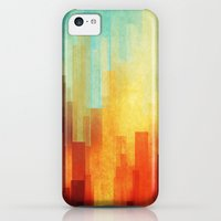 iPhone 5c Cases featuring Urban sunset by SensualPatterns