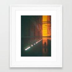 BURTRAN CORRIDOR (everyday 07.20.15) Framed Art Print
