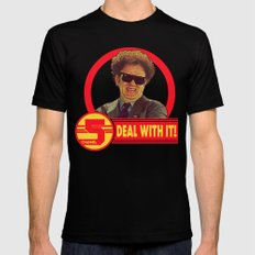 DEAL WITH IT! | Channel 5 | Brule Mens Fitted Tee Black SMALL