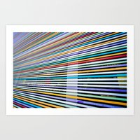 Colored Lines On The Wal… Art Print