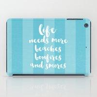 life needs more beaches iPad Case