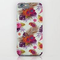 iPhone & iPod Case featuring TROPICAL FLORAL PASSION by Nika